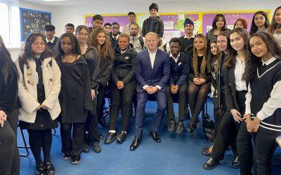 Chadwell Heath Academy visit