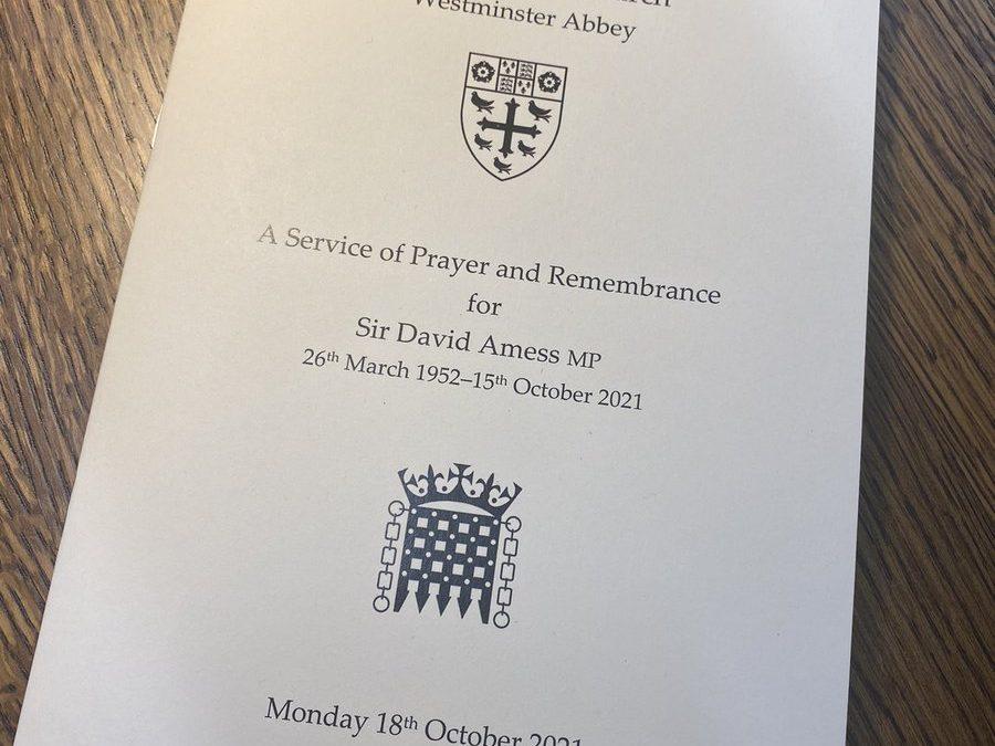 In memory of Sir David Amess MP