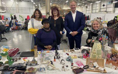Women's recycling jumble sale